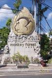 Monumento da floresta do macaco de Ubud fotografia de stock royalty free