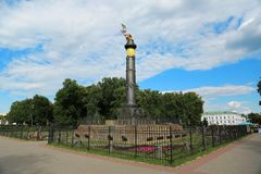 Monumento da glória, cidade de Poltava, Ucrânia imagem de stock royalty free