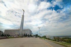 Monumento da glória no Samara Fotografia de Stock Royalty Free
