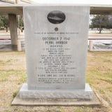 Monumento da guerra a todas as forças de E.U. no Pearl Harbor no jardim do memorial dos veteranos Foto de Stock