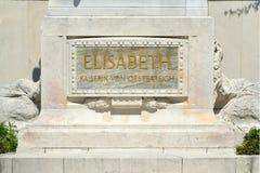 Monumento da imperatriz Elizabeth em Viena - Áustria imagens de stock