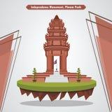 Monumento da independência, ilustração de Phnom Penh, Camboja ilustração royalty free