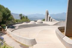 Monumento da língua do holandês sul-africano em Paarl foto de stock
