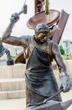 Monumento da lavorare, scultura del fabbro Immagini Stock Libere da Diritti