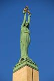 Monumento da liberdade em Riga Letónia Fotografia de Stock Royalty Free