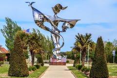 Monumento da paz em Grandcamp-Maisy, Normandy, França Fotografia de Stock Royalty Free
