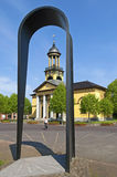 Monumento da peregrinação e igreja Jacobskerk dos peregrinos Fotos de Stock