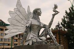 Monumento da Robo-senhora do ferro imagem de stock