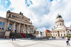 Monumento da sala de concertos e do Schiller em Berlim Imagem de Stock Royalty Free