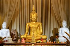 Monumento das Budas no templo Fotos de Stock Royalty Free