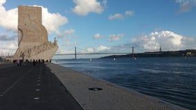 Monumento das descobertas do mar em Lisboa Portugal Fotos de Stock