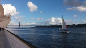 Monumento das descobertas do mar em Lisboa Portugal Foto de Stock