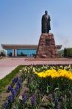 Monumento de Abai Qunanbaiuli Imagenes de archivo