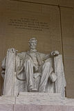 Monumento de Abraham Lincoln en el Washington DC los E.E.U.U. Fotos de archivo libres de regalías
