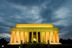 Monumento de Abraham Lincoln, Washington DC los E.E.U.U. Imagenes de archivo