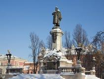 Monumento de Adam Mickiewicz, Varsóvia, Poland Fotos de Stock