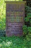 Monumento de Adolf Windaus Foto de archivo libre de regalías