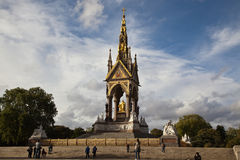 Monumento de Albert en Londres, Inglaterra Fotos de archivo