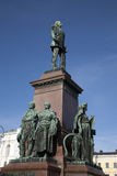 Monumento de Alejandro II (1894), cuadrado del senado, Helsinki foto de archivo