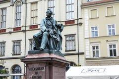 Monumento de Aleksander Fredro de la cuenta en Wroclaw Fotografía de archivo libre de regalías