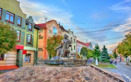 Monumento de Alexander Dukhnovich, de um padre, de um poeta, de um escritor, de um pedagogo, e do ativista social dos povos eslav Foto de Stock Royalty Free