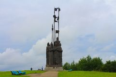 Monumento de Alexander Nevsky Pskov, Rússia Foto de Stock