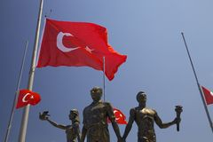 Monumento de Ataturk en Kusadasi Imagen de archivo