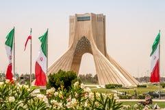 Monumento de Azadi - Teherán Foto de archivo