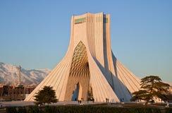Monumento de Azadi y torre de Milad Foto de archivo libre de regalías