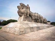 Monumento de Bandeiras en Sao Paulo, el Brasil Imagen de archivo