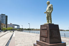 Monumento de Benito Quinquela Martin en Buenos Aires Imagen de archivo