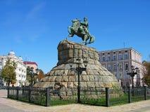 Monumento de Bogdan Khmelnitsky, Kiev, Ucrania Fotografía de archivo