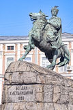 Monumento de Bohdan Khmelintsky em Kiev Imagem de Stock Royalty Free