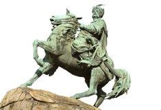 Monumento de Bohdan Khmelnytsky em Kyiv, Ucrânia Foto de Stock Royalty Free