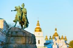 Monumento de Bohdan Khmelnytsky, Kiev, Ucrânia Imagens de Stock