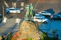 Monumento de Bohdan Khmelnytsky Kiev, Ucrânia Imagem de Stock Royalty Free