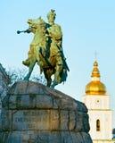 Monumento de Bohdan Khmelnytsky Kiev, Ucrânia Imagens de Stock Royalty Free