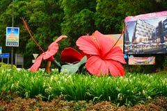 Monumento de Bunga Raya en Kota Kinabalu, Malasia Imagen de archivo