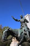Monumento de Cervantes. Madrid Foto de archivo
