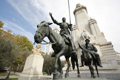 Monumento de Cervantes, Madrid, Spain Imagem de Stock