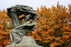 Monumento de Chopin fotografía de archivo