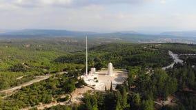 Monumento de Chunuk Bair almacen de video
