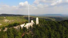 Monumento de Chunuk Bair almacen de metraje de vídeo
