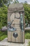 Monumento de CJ Van Houten At The Groeneweg Weesp os Países Baixos imagem de stock