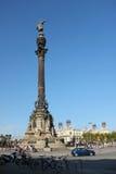 Monumento de Columbo em Barcelona Fotos de Stock