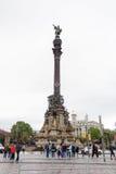 Monumento de Columbus, Barcelona Foto de archivo libre de regalías