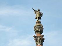 Monumento de Columbus en Barcelona Foto de archivo libre de regalías