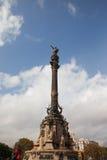 Monumento de Columbus en Barcelona imágenes de archivo libres de regalías