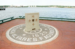 Monumento de Fagundes - Halifax - Canadá Fotografía de archivo libre de regalías