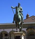 Monumento de Ferdinand de Medici de Florencia fotografía de archivo